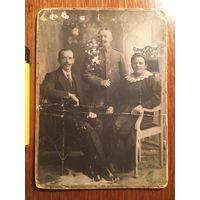 Фото, кабинет-портрет, Гельгор, Гродно, 1918, немец и гражданские!