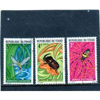 Чад.  Mi:TD 512-514. Серия: насекомые. 1972.