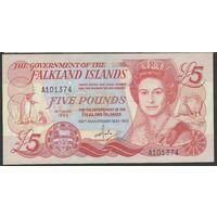 Фолклендские острова 5 фунтов 1983 года! Редкая! Состояние UNC!