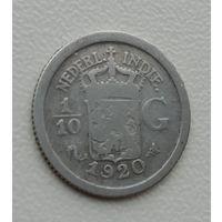 Голландская Ост Индия. 1/10 гульдена. 1929. Серебро.