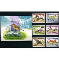 Бенин 1997г, птицы, 6м. 1 блок