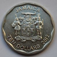 Ямайка, 10 долларов 2012 г.
