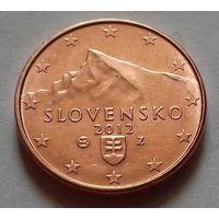 2 евроцента, Словакия 2012 г., AU