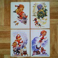 Набор открыток Приключения Петрушки (нет обложки и открытки номер 2)