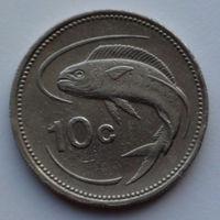 Мальта 10 центов. 1986