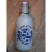 Штоф . Бутылка пивная . Пиво Франц Иосиф Jubelbier .