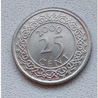 Суринам 25 центов, 2009 6-11-39