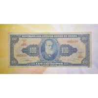 Бразилия 100 Крузейро 1953 г.