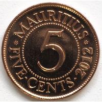 Маврикий 5 центов 2012 года. Сивусагур Рамгулам