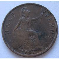 Великобритания 1/2 пенни 1931