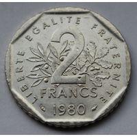 Франция, 2 франка 1980 г.