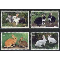 Фауна. Зайцы, кролики. Тайланд. 1999. Полная серия 4 марки. Чистые