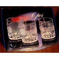 Набор стаканов бокалов для виски Crystal Bohemia Чехословакия  Богемия хрусталь времен СССР