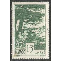 Французское Марокко. Всадник в вековом лесу. 1939г. Mi#144.
