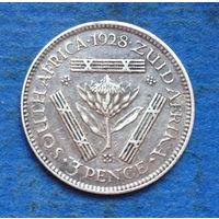 Южная Африка Британский доминион 3 пенса 1928 Георг V