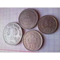 Вьетнам 1 донг, 5, 2, 1 хао 1976