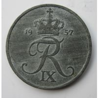 Дания 5 эре 1957  .  .8 А - 261