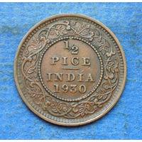 Индия Британская колония 1/2 пайса 1930 Георг V
