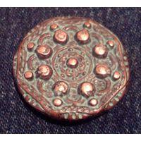 W: Пуговица металлическая, подойдёт для декора и реставрации одежды средних веков... Диаметр 25 мм