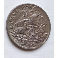 Испания 25 сентимо, 1925 4-9-6