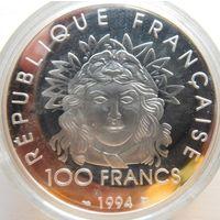 35. Франция 100 франков 1994 год, серебро*