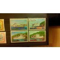 Корабли, флот, транспорт, марки, Малави