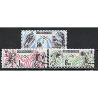 Олимпийские игры в Калгари и Сеуле Чехословакия 1988 год серия из 3-х марок