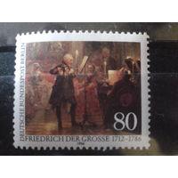 Берлин 1986 король Фридрих Великий, живопись Михель-2,2 евро