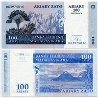 Мадагаскар. 100 ариари (образца 2004 года, P86b, UNC)