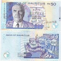 Маврикий 50 рупий образца 2006 года UNC p50d