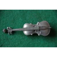 Фигурка Скрипка  миниатюра   олово    7,5 см