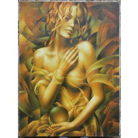 Картина маслом - Начало вселенной 45х60 Автор Артур Брагинский, Украина, г. Мукачево. Есть все документы на картину