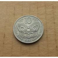 Новая Зеландия, 10 центов - 1 шиллинг 1967 г.