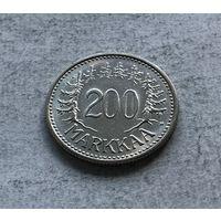Финляндия 200 марок 1956 - первый год чекана!