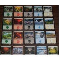 100 базовых земель MTG МТГ  Magic: карты