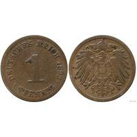 YS: Германия, Рейх, 1 пфенниг 1893D, KM# 10 (2)