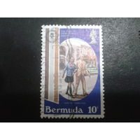 Бермуды, колония Англии 1981 пешеходы