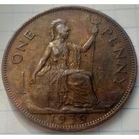 Великобритания 1 пенни, 1939         ( К-10-4 )