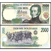 Венесуэла 2000 боливаров образца 1998 года UNC p77c