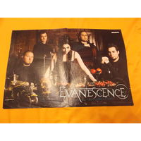 Двухсторонний плакат Keira knightley, Evanescence