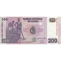 Конго 200 франков 2007 (ПРЕСС)
