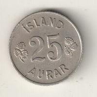 Исландия 25 эйре 1963