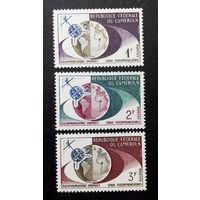Камерун 1963 г. Космос. Спутниковое телевидение. 3 марки. Чистая #0044-Ч1