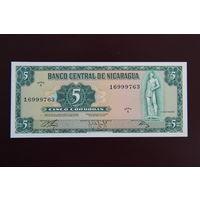Никарагуа 5 кордоба 1972 UNC