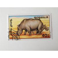 Монголия 1991. Африканские дикие животные.