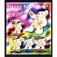 2002 Гамбия. 100 - летие плюшевого мишки