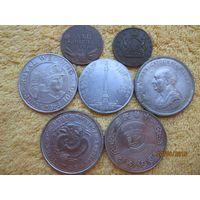 Копии редких монет без повторов ! 7 шт.