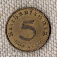 Германия 5 пфеннигов 1937 A//(Oct)