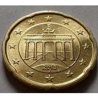 20 евроцентов, Германия 2013 J, AU