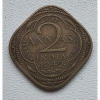 Индия - Британская 2 анны, 1942 5-4-12